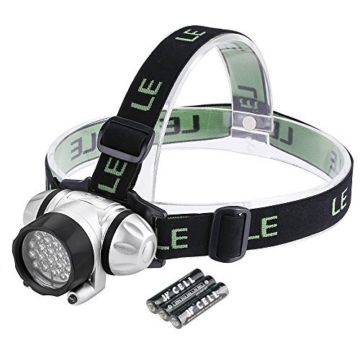 LED Stirnlampe 18 Weiße LED und 2 Rote LED - Militär Taschenlampe