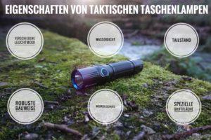 Eigenschaften taktische Taschenlampen