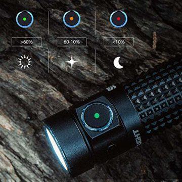 OLIGHT S1R Baton II Taschenlampe EDC 1000 Lumen wiederaufladbare 138 Meter Reichweite, MCC-Ladegerät II Effizient, Strobe Turbo-Modus, Mini-Taschenlampe Wasserdichte Camping, Wandern, Angeln, Renovieren, Fahrzeuge und zu Hause benutzen - 3
