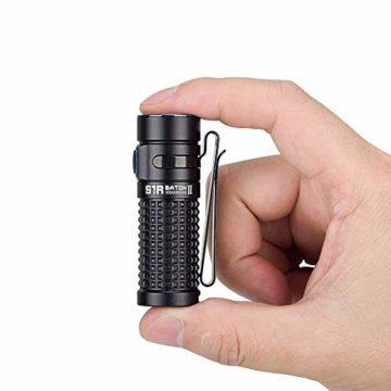 OLIGHT S1R Baton II Taschenlampe EDC 1000 Lumen wiederaufladbare 138 Meter Reichweite, MCC-Ladegerät II Effizient, Strobe Turbo-Modus, Mini-Taschenlampe Wasserdichte Camping, Wandern, Angeln, Renovieren, Fahrzeuge und zu Hause benutzen - 4