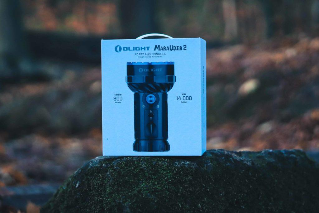 Olight Marauder 2 Verpackung Frontansicht
